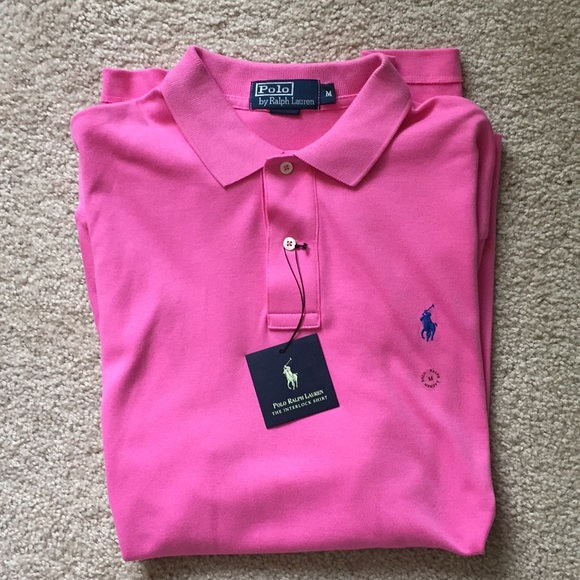 7fabb403afc3 Polo Ralph Lauren Pink Interlock Polo Shirt